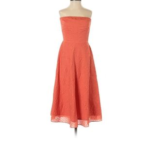 J Crew Sunset Orange Strapless Dress Sz 0